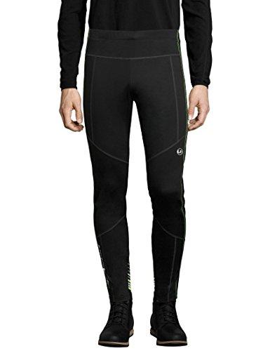 Ultrasport Herren Advanced Avers Ski-Langlauf-Hose, Schwarz/Neon gelb, L