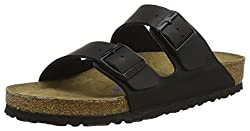 Birkenstock Classic Unisex Adult Arizona Birko-flor Mules, Black (Black), 5 Uk Narrow (38 Eu)