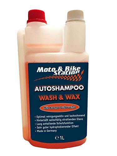 Moto & Bike WASH & Wax 2in1 Autoshampoo mit Langzeitschutz, 1000ml, äußerst ergiebig, für die regelmäßige Wäsche mit Wachs, in Dosierflasche