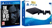 Sony PS4 1TB Slim Console with Additional Dualshock Controller (Black)&The Last of Us 2 Standard Plus (