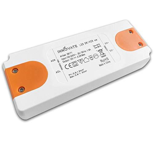 INNOVATE LED Trafo ECO 12-24 Volt/DC, 0-50W - LED Treiber - Transformator - Netzteil - Driver (12V - 50W) (Dc-led-treiber)