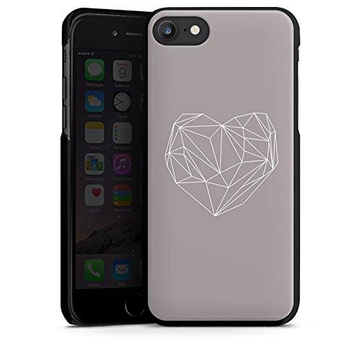 Apple iPhone X Silikon Hülle Case Schutzhülle Herz Liebe Love Hard Case schwarz