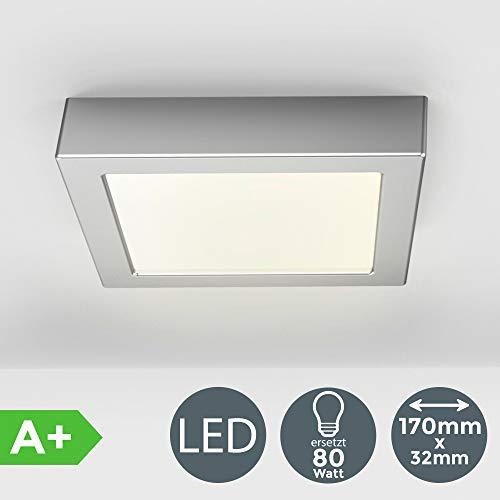 Deckenleuchte inkl. 12W 900lm LED Platine ersetzt 80W Glühbirne, 170x170x32mm LED Aufbauleuchte, Deckenlampe 3000K Warmweiß für Innenräume
