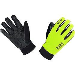 GORE BIKE Wear Guantes Térmicos de Hombre para ciclismo, GORE-TEX, UNIVERSAL Thermo Gloves, Talla 9, Amarillo neón/Negro, GCOUNW089907