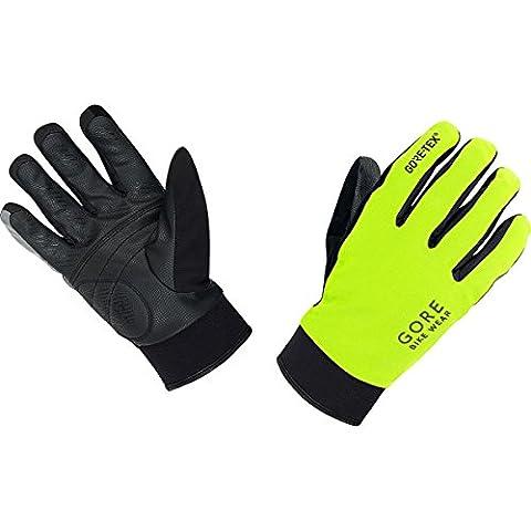 GORE BIKE Wear Herren Thermo-Regen-Fahrradhandschuhe, GORE-TEX, UNIVERSAL Thermo Gloves, Größe 8, Neon Gelb/Schwarz, GCOUNW