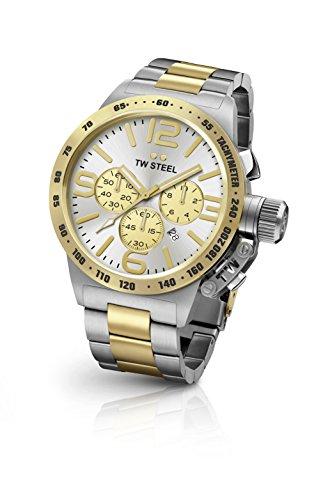 TW Steel orologio uomo cronografo Canteen bracciale bicolore