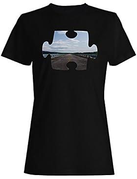 Rompecabezas, camino, primer punto, perspectiva camiseta de las mujeres e792f