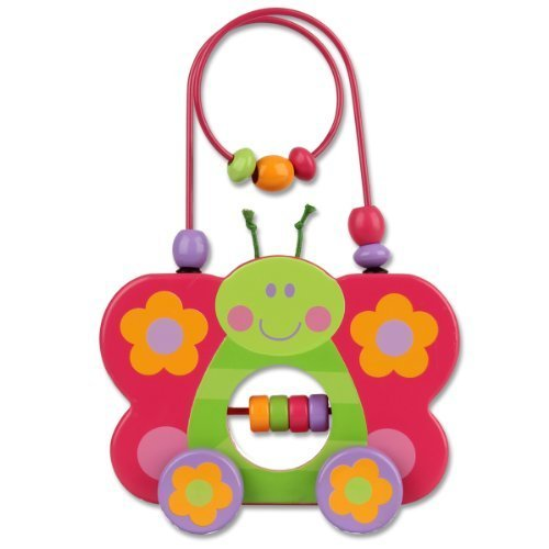 Stephen Joseph Butterfly Rolling Wire and Bead Toy by Stephen Joseph (Joseph-butterfly Stephen)