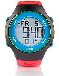 EZON L008B11 Relojes Digitales de los Hombres con Alarma Cronómetro Cuenta Regresiva 50 años Calendario Reloj