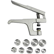 CurtzyTM Pinzas de Resorte de Metal Herramienta Complemento de Alicates Botón de Cierre con 9 Tapas