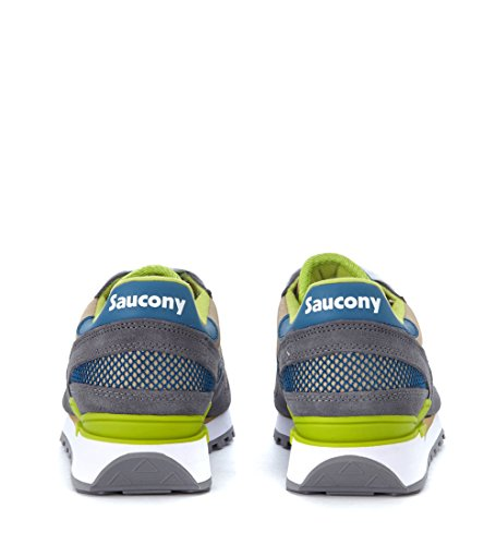 Saucony Shadow Sneaker En Daim Gris Et Maille Marron Marron