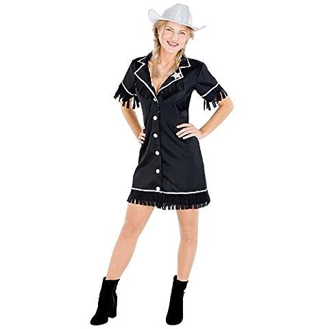 Déguisement de femme cowgirl | Une robe courte et sexy + ceinture | western cowboy costume carnaval (M | no. 300642)