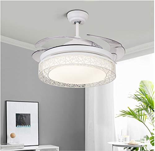 Ruitx Unsichtbarer Fan Light Modernen Minimalistischen Speisesaal Wohnzimmerlampe Schlafzimmer Decke Fan Light Bird Nest Unsichtbare Kronleuchter LED-Decke (Kronleuchter Light Kit)