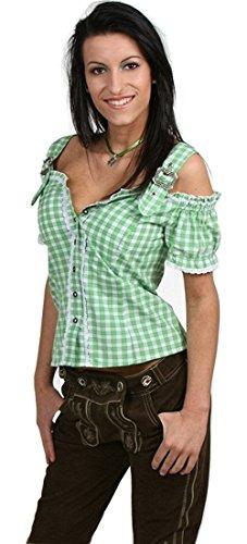 Sexy Carmenbluse Trachtenbluse Landhaus Mieder HANNI - 6 Farben zur Wahl, Größen:M;Farben:grün