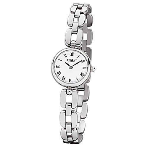 Regent de mujer reloj de pulsera elegante Analog Reloj de cuarzo de acero pulsera de plata (urf965