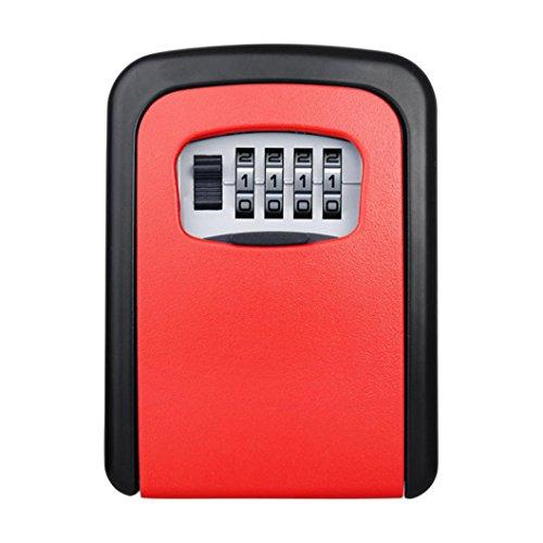 B-appliance Lock (Outdoor Metall Passwort Vorhängeschloss Schlüssel Box, mamum 4Digit Passwort Schlüsselkasten Sicherheit Verstecktes Schloss Fall Wand montiert Vorhängeschloss Realtor Einheitsgröße B)