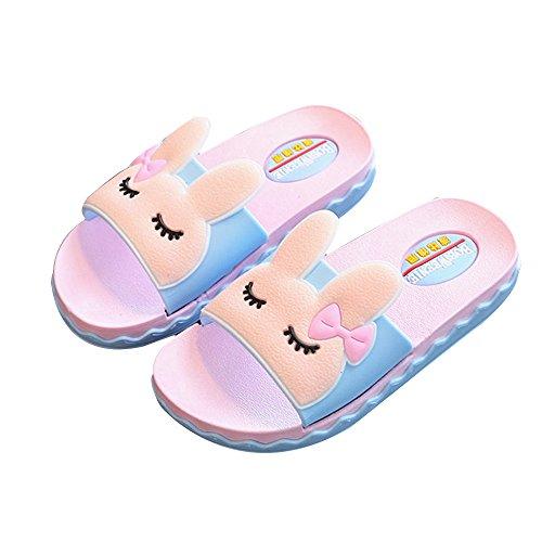 IUU Mom-Baby Slippers Cute Girl Rabbit Sandals Bath Slippers Non-Slip Slippers House Slippers Beach Flip-Flops