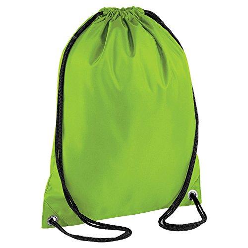 Kordelzug Rucksack Wasserdichte Tasche Gym PE Duffle Schule Kinder Jungen Mädchen Sack, Lime Green Jungen Uniformen