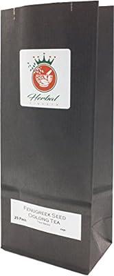 Graine de fenugrec biologique et le thé Oolong sachets de tisane - paquet de 25