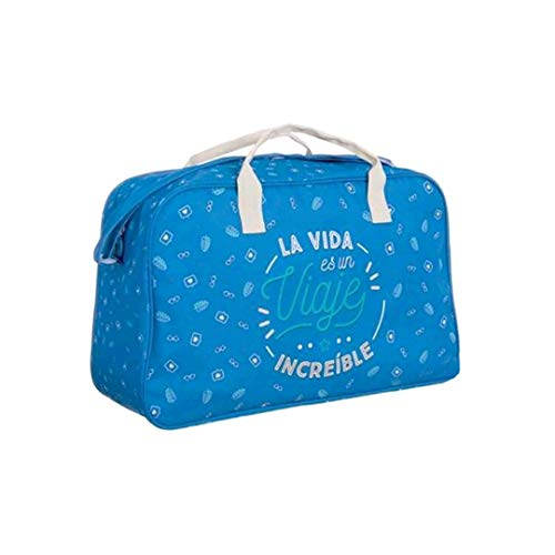 Bolsa de Viaje La Vida es un Viaje increible (Azul Marino)