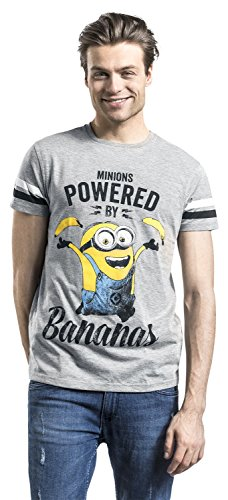 MINIONS Powered by Bananas T-Shirt Grau Meliert Grau Meliert