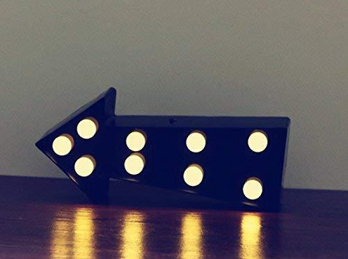 3D Pfeil Sign Licht, LED-Pfeil-Form sign-lighted Kunststoff Festzelt Pfeil Sign Wall Decor für Chistmas, Geburtstag, Kinder, Wohnzimmer, Hochzeit Party Decor (weiß) schwarz