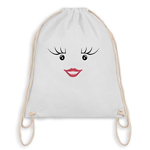 & Fasching - Partner-Kostüm Milch und Schokolade Sie - Unisize - Weiß - WM110 - Turnbeutel I Gym Bag (Am Besten Schwarze Und Weiße Kostüme)