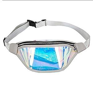 Yunso Damen Hipster Hüfttasche aus Laser-PU Gürteltasche Running Gürtel Tasche Bauchtasche Outdoor Sporttasche Wasserdicht