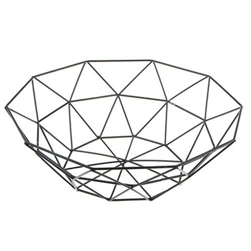 2er Set Design Schale Drahtschale Schwarz Draht Deko-Korb Obstschale Tisch-Deko