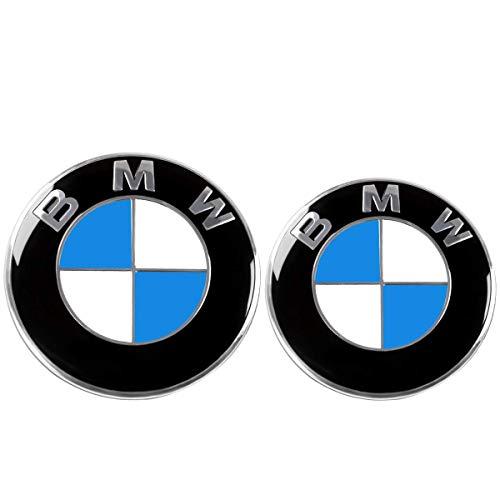 Emblem für Capo und Rumpf zwei Zähne. Ersatzemblem 82mm und 74mm. Blau und Weiß