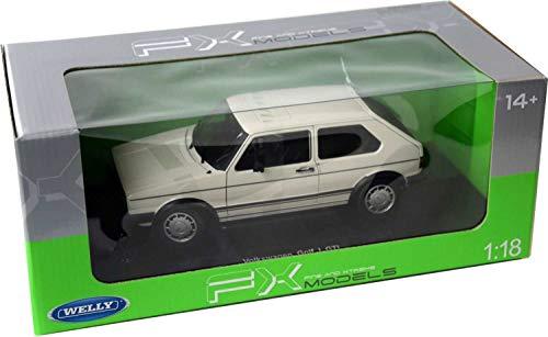 Welly Modellauto 1:18 VW Golf 1 GTI Weiss