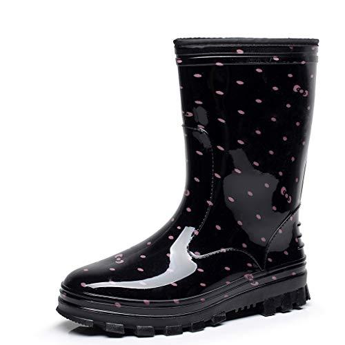 Bibao Damen Regenschuhe Anti-Rutsch Slip-On Flats Stiefel Knöchel Damen Schneeschuhe (Pakete Schneeschuhe)
