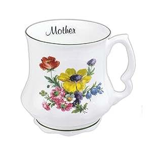 David Michael - Bouquet della nonna Grande caffe tazza di te con rosa rosa - MADRE sottotitolo