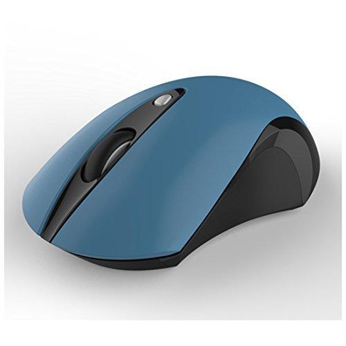 2,4G Wireless Maus, tech2016Wireless Maus Slient Klicken und lightless Mobile optische Maus Computer Mäuse 1600DPI 3Stufen verstellbar blau blau (Maus Blau Logitech Schnurlose)