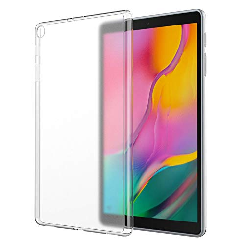 MoKo Hülle Passend für Samsung Galaxy Tab A 10.1 2019, Soft Flexible TPU Kristall Klar Schale Schutzhülle Stoßdämpfung Crystal Case Durchsichtig für Galaxy Tab A 10.1