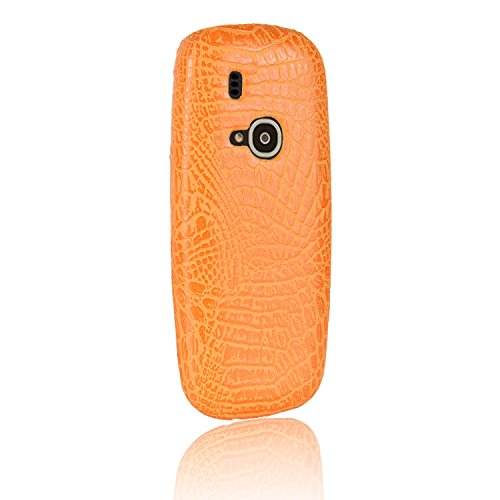 YHUISEN Nokia 3310 Case, Luxus Klassisches Krokodil Skin Pattern [Ultra Slim] PU Leder Anti-Scratch PC Schutzhülle für Nokia 3310 (2017) ( Color : Red ) Orange