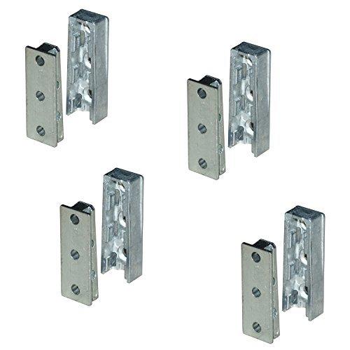 4 Set - GedoTec® Möbelverbinder verdeckt Bettverbinder Schrankverbinder aus Metall | Einhänge-Beschlag für Betten, Möbel & Metallbau | Tragkraft bis 250 kg | Markenqualität für Ihren Wohnbereich