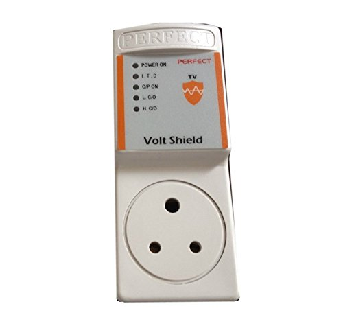 Perfect 170-270 Volts Voltage Protector (White, 1 Piece)