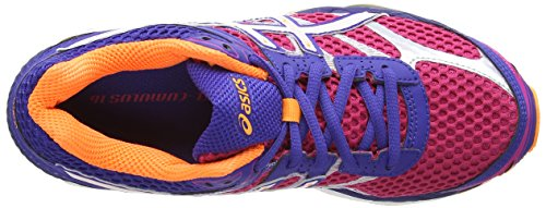 AISCS Gel-Cumulus 16, Chaussures de running Femme Rose (Hot Pink/White/Deep Blue 2001)