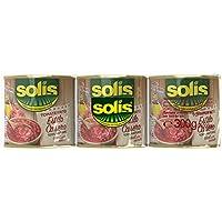 SOLIS Tomate Frito Estilo Casero Lata - Tomate Sin Gluten - Pack de 3 X 100g