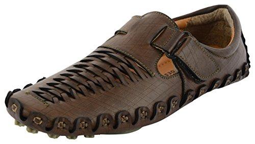 Leegraim Men's Synthetic Outdoor Sandals - Brown (8 Uk)