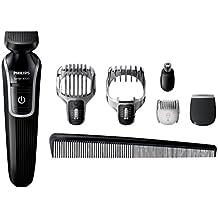Philips Multigroom QG3342/23 Negro, Gris depiladora para la barba - depiladoras para la barba (Negro, Gris, 45 min, 16 h)