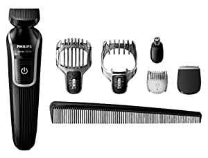 Philips Series 3000 6-in-1 Waterproof Mens Grooming Kit (Beard/Stubble Trimmer/Hair Clipper)