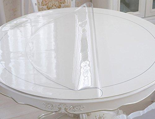 Nappes Circulaire en Verre Cristal Souple PVC Ronde De Table Ronde Transparente Imperméable À l'huile Anti-Chaude (3mm) (Taille : Diameter 90 cm)