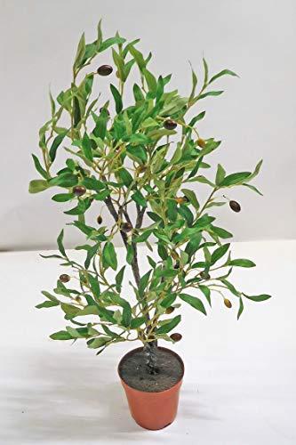 Ziegler Olivenbaum Oliven Dekopflanze Kunstpflanze 55 cm 537084-GN getopft F43