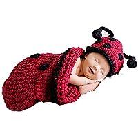 DAYAN Cute Baby Infant Coccinella Costume Crochet Knit puntello della foto Fotografia