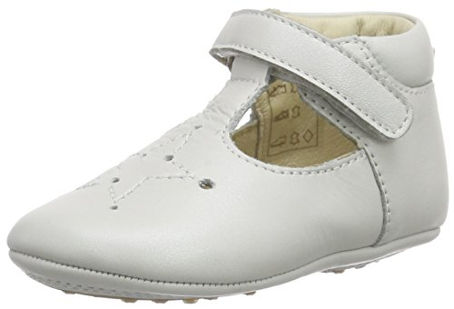 Bellybutton Krabbelschuhe, Chaussons pour enfant bébé fille Blanc - Weiß (bianco)