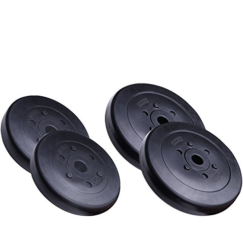 ScSPORTS 30 kg Hantelscheiben-Set Kunststoff 2x10 2x5 kg Gewichte 30/31 mm Bohrung