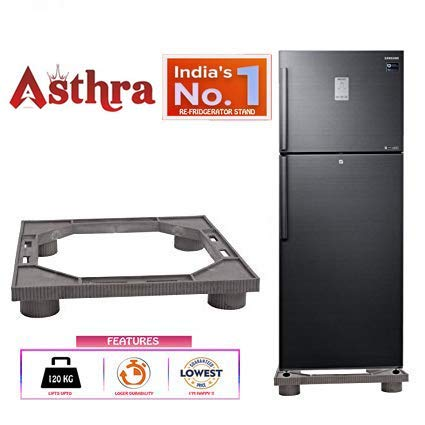 Asthra® Double Door Fridge Stand Specially Crafted for Double Door Refrigerators Compatible for All Brands fridges (180-390 litres, Grey)