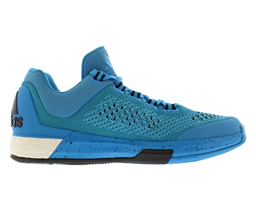 Adidas Performance 2015 Crazylight Boost Primeknit scarpe, luminoso Ciano Blu / Giallo solare, 7 M U Bright Cyan Blue/Solar Yellow